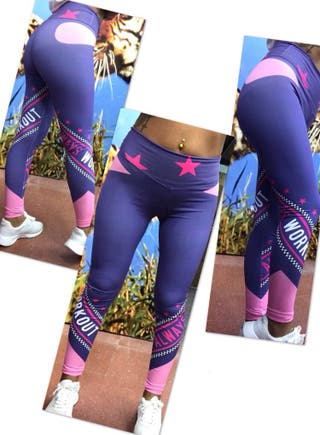 Leggins PUSH UP malla talla S estrellas