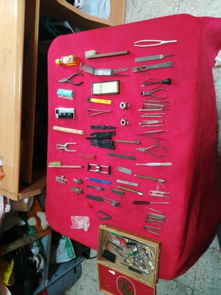 vendo lote de herramientas de relojería antiguas