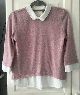 Pink jumper-shirt Size 10