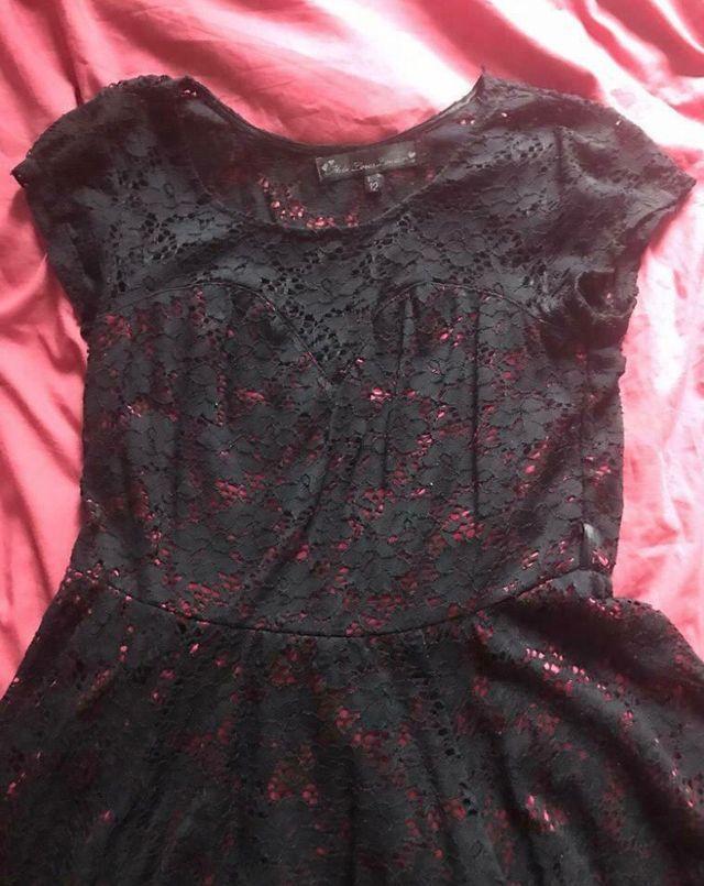 Black lace dress Size 12