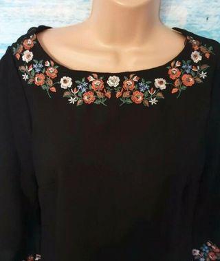 Black tunic dress Size 10