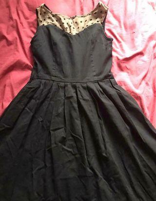 Black rockabilly dress Size 12