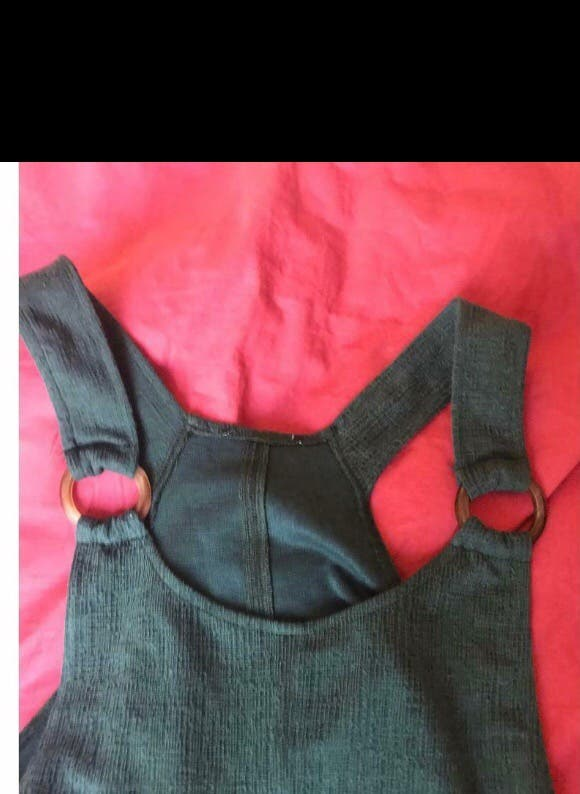 Green overall Size 12