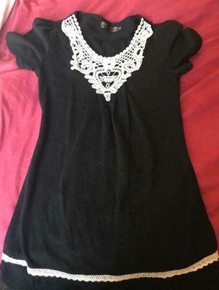 Black Babydoll dress Size M