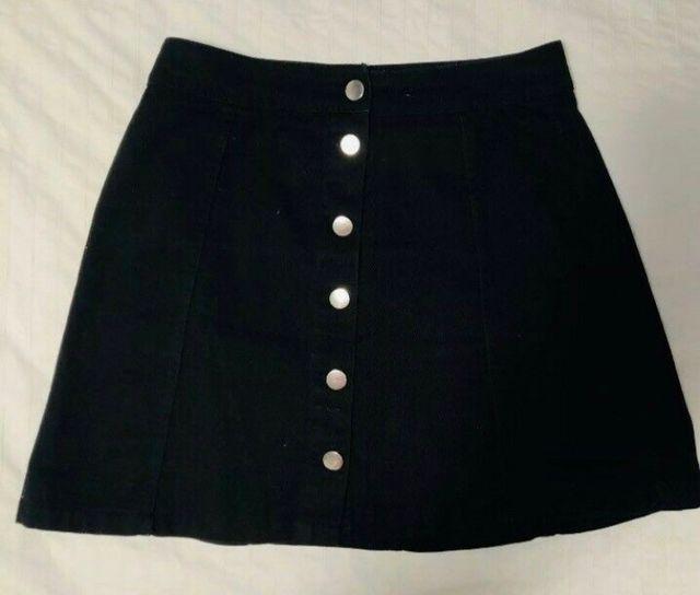 Black denim skirt Size 8-10