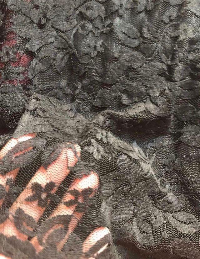 Black cleavage lace dress Size M