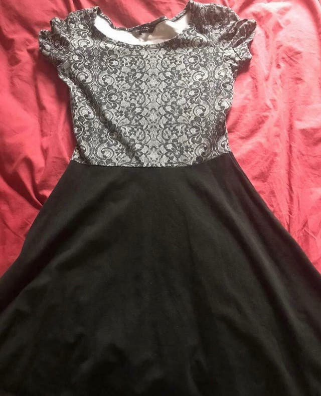 Floral-black skater dress Size 8