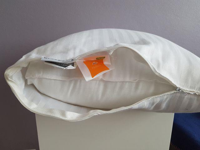 Lot de 2 oreillers anti-acariens 65 x 30 cm