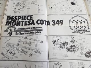 póster con despiece montesa Cota 349