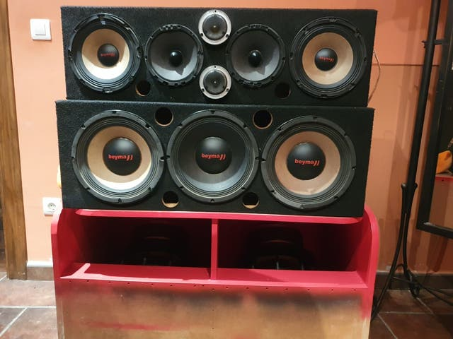 Equipo de música coche gk audio y beyma