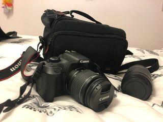 Canon EOS 1300D + Objetivo 75-300mm + bolsa viaje