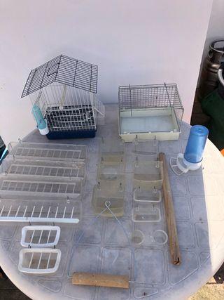 Jaula y accesorios aviario