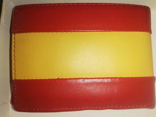 Cartera de piel de ubrique, bandera de España