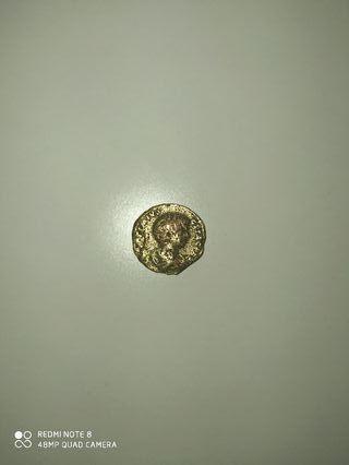 Quinario de oro forrado de Geta