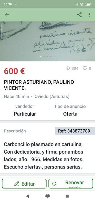 PINTURA DE PAULINO VICENTE DE OVIEDO.URGE VENTA ,