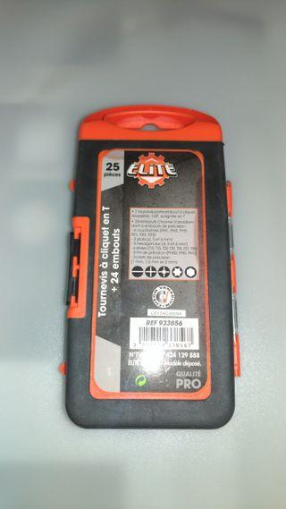 Elite 933856 Trinquete con mango en T Destornillad