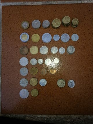 93 monedas europeas de antes del€