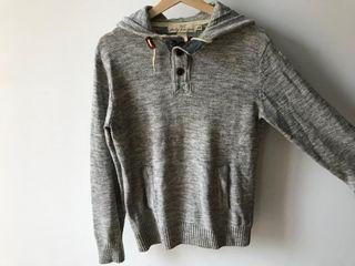 Jersey gris con capucha Talla S