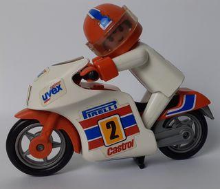 Moto de carreras Playmobil