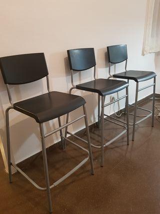 3 sillas altas IKEA apilables