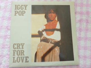 IGGY POP CRY FOR LOVE VREDENBURG 1986 VINILO