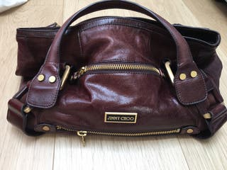 Bolso piel anagrama Jimmy choo impecable
