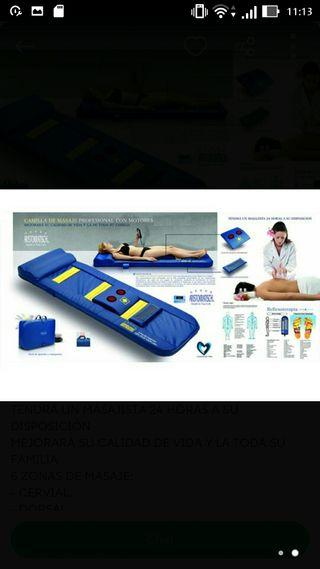 camilla masaje electrica