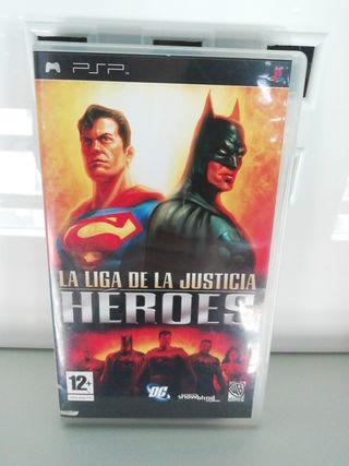 psp la liga de la justicia heroes
