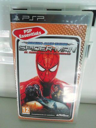 psp spiderman el reino de las sombras
