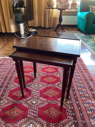 Set 2 mesas auxiliar madera