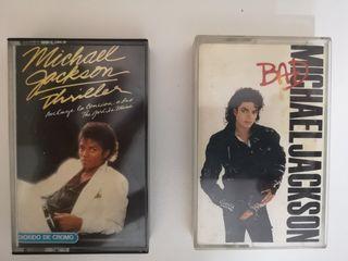 Michael Jackson - PACK Thriller y Bad en cassette