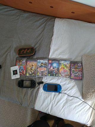 PSP + Juegos, camara y funda