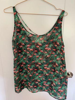 Camiseta de flamencos.