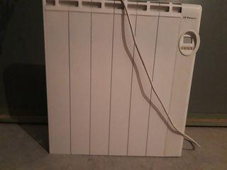 radiador eléctrico calor azul