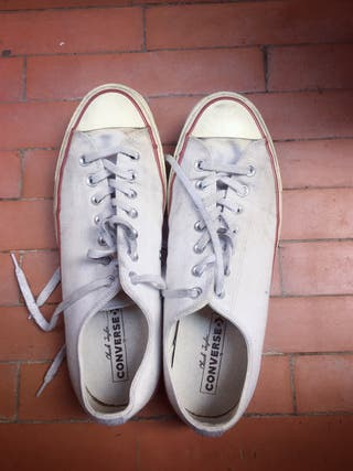 Converse white sneakers skateboard classic
