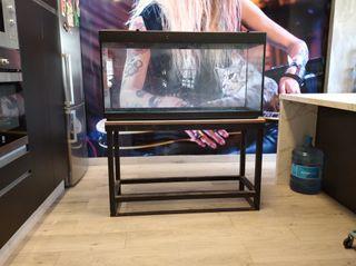 Acuario - terrario con mesa