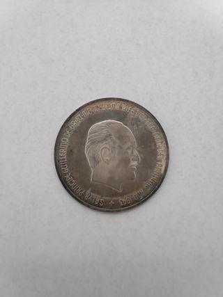 Moneda de plata príncipe Guillermo Grau Moctezuma