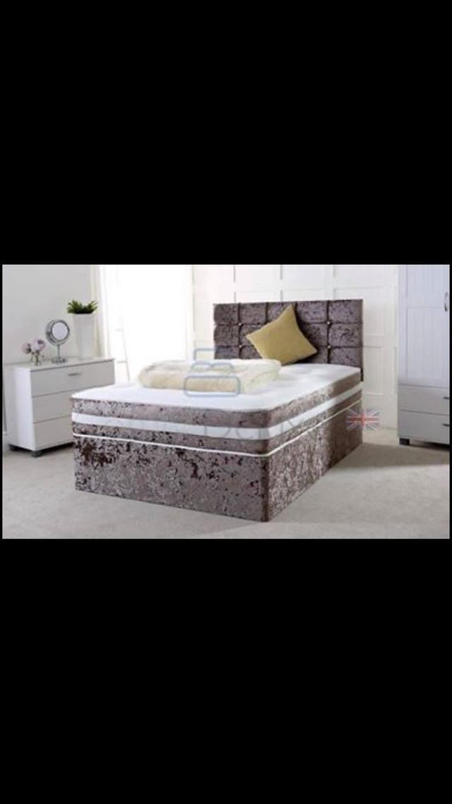 Brand new crushed velvet beds *free delivery*