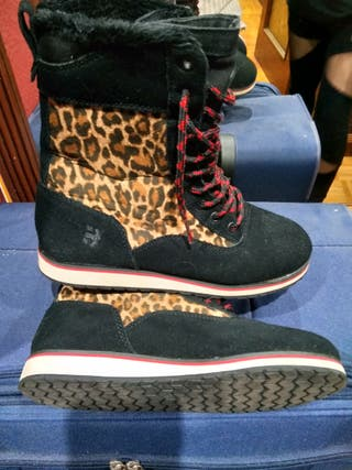 Botas Etnies estampado leopardo