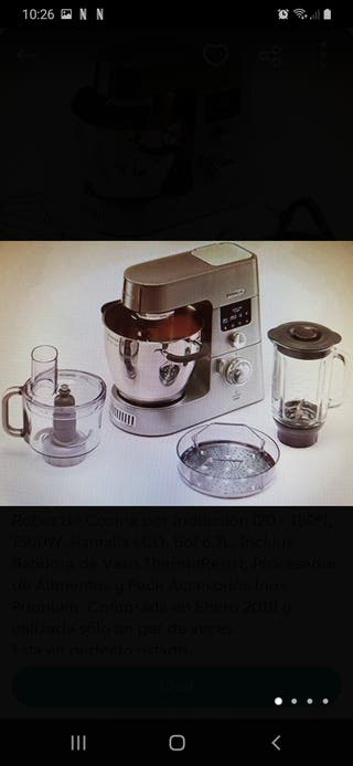 robot cocina kenwood usado dos veces