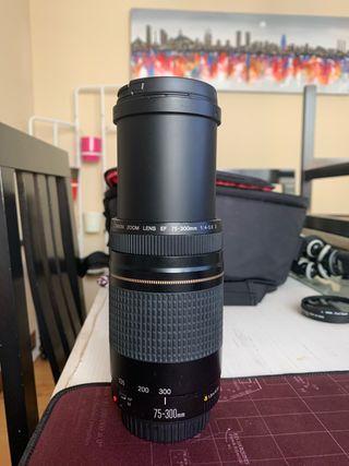 Objetivo canon 75-300.