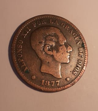 5 céntimos 1877 Alfonso XII