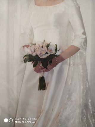 vestido de novia estilo clásico francés