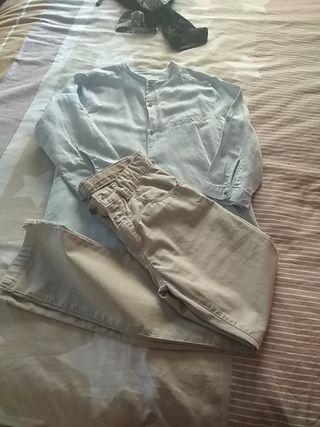 conjunto pantalón + camisa