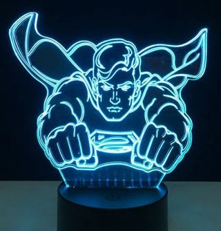 Lampara LED RGB SUPERMAN Nueva