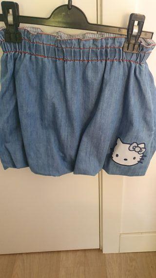 Lote 2 faldas niñas 12 años Hello Kitty