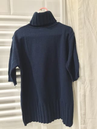 Jersey cuello alto Zara azul