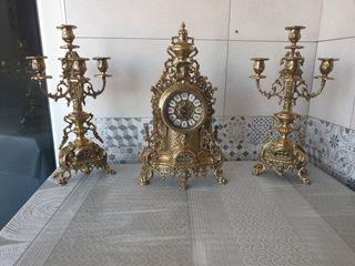 lote de bronce y candelabros