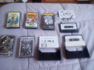 lote msx 9 casetes grabados y originales