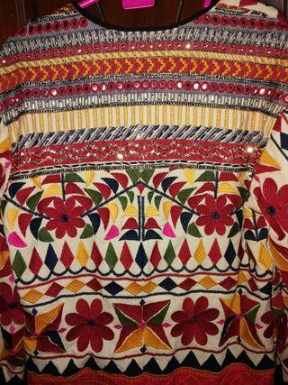chaqueta bordada etnica